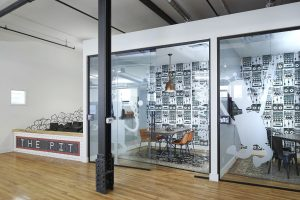 Bürocontainer Glastrennwand
